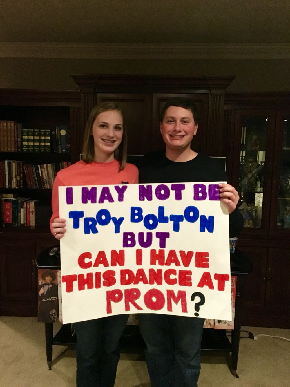 naley one tree hill promposal naley too cute one only saying yes if the sign is cuter and he dresses up like troy and sings a song liv