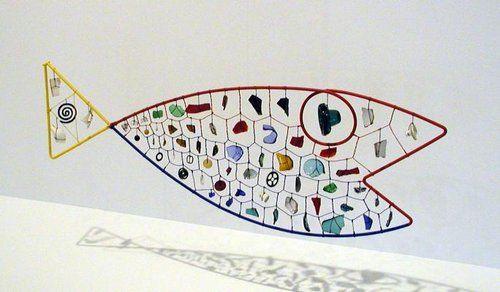 """Fish Mobile"" sculpture (metal rod, wire, multi-Media Kinetic Art) 1944,  by Alexander Calder"