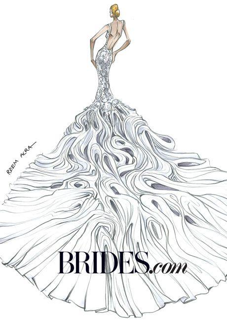 Kim Kardashian Wedding Dress Sketches | Sketches, Wedding dress and ...