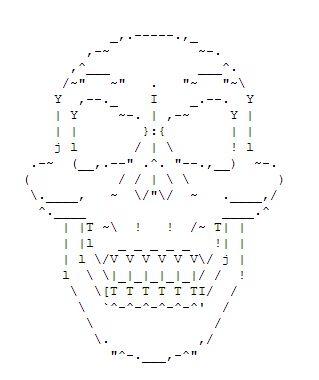38++ Ascii skull ideas