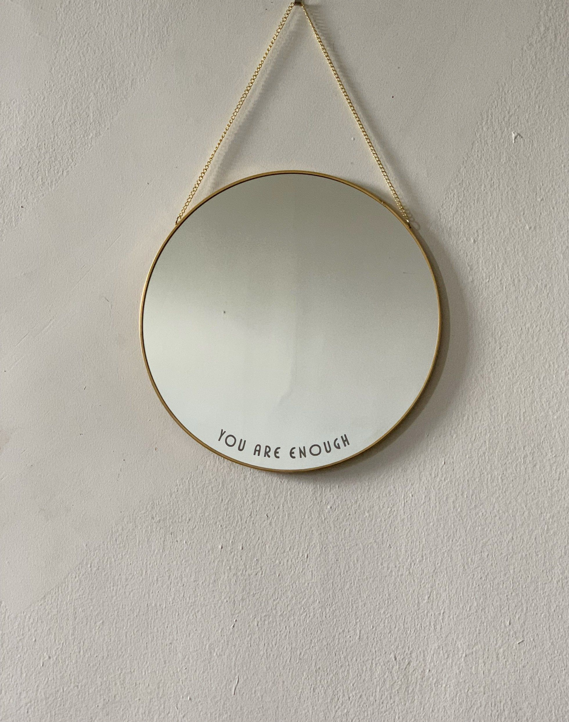 You Are Enough Glas Mirror Frame Mirroring And Paraphrasing