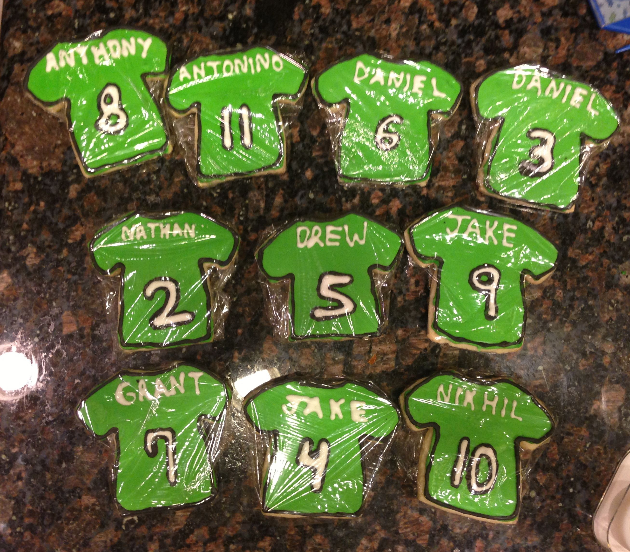 Soccer Team Cookies My Cakes Cookies Cupcakes And Other