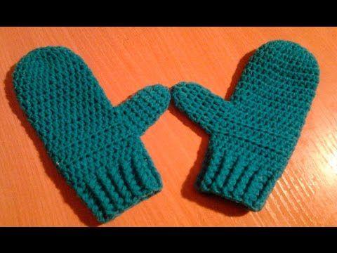Tutorial Manopla Crochet o Ganchillo Niño Mittens Kid - YouTu ...