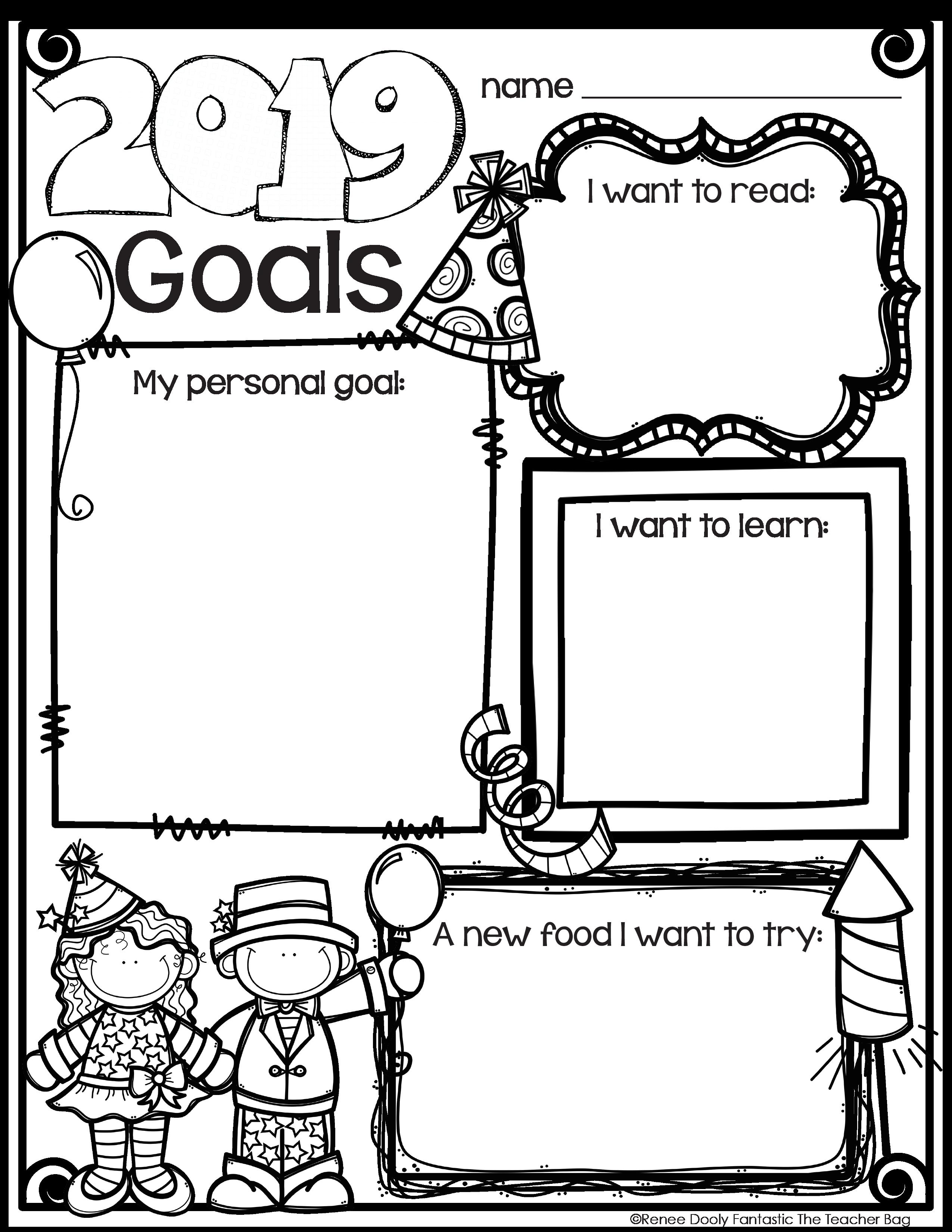 New Years Goals Freebie   New year goals [ 3300 x 2550 Pixel ]