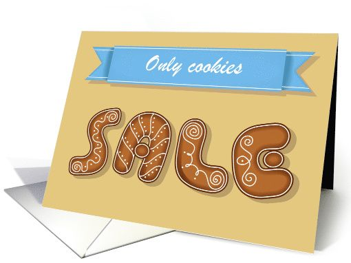Only cookies sale sweet font invitation card custom 1482102 only cookies sale sweet font invitation card custom stopboris Image collections