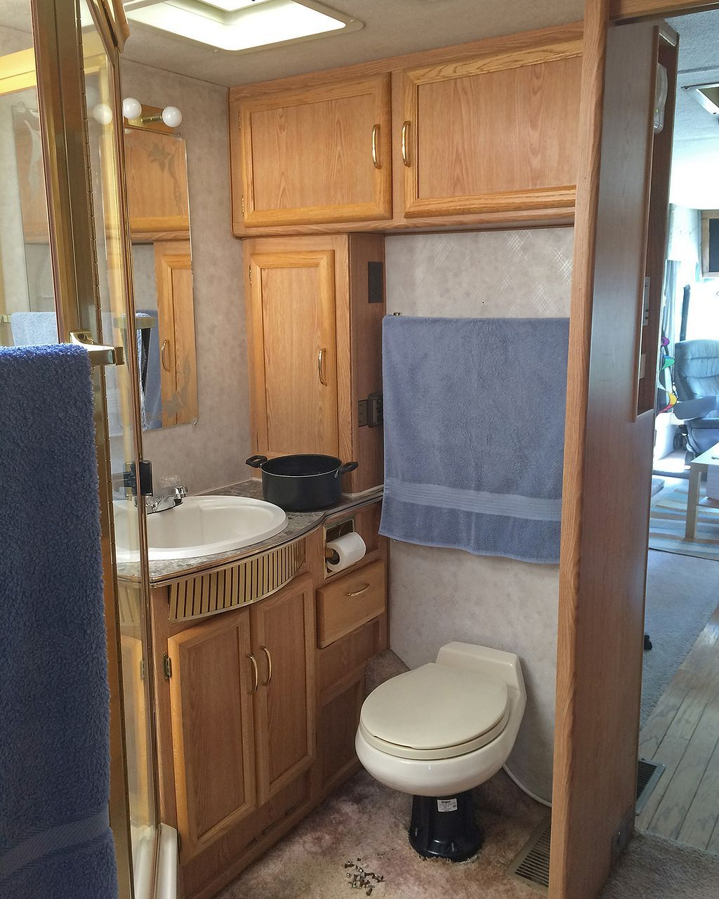 Best RV Bathroom Remodel Ideas Pinterest Rv Bathroom And Rv - Rv bathroom remodel