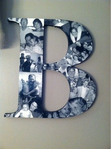 Diy Picture Monogram Wooden Letter From Craftcuts They Have A