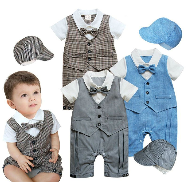 Baby Boy Formal Clothes, Toddlers Tuxedo Set (Smart Suit + Hat ...