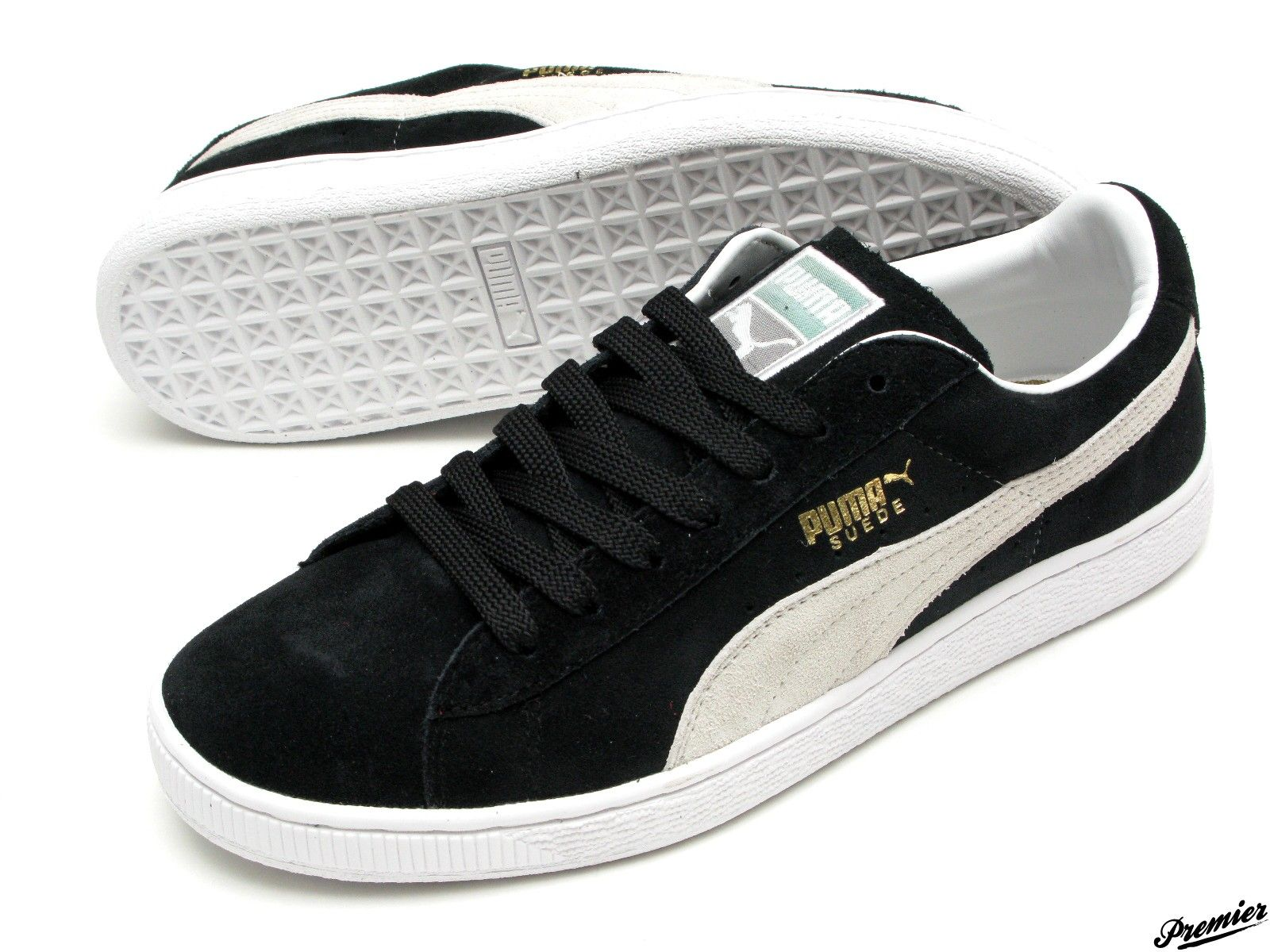 Puma - Clyde - Black   White Suede  The best sneaker ever...  72abbe780