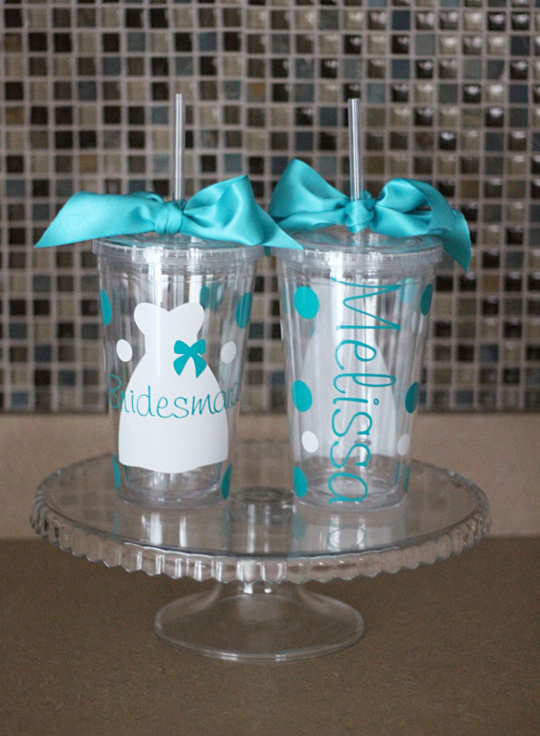 Set of 6 Bridal Party Gifts Wedding Party Gifts by SpknWords, $75.00