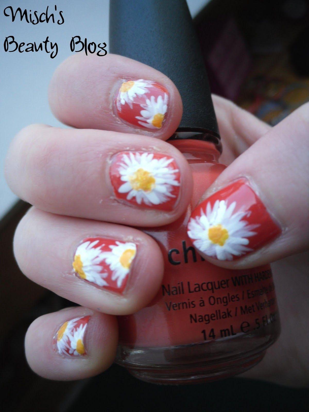 march nail art   Misch\'s Beauty Blog: NOTD March 7th: Daisy Nail Art ...