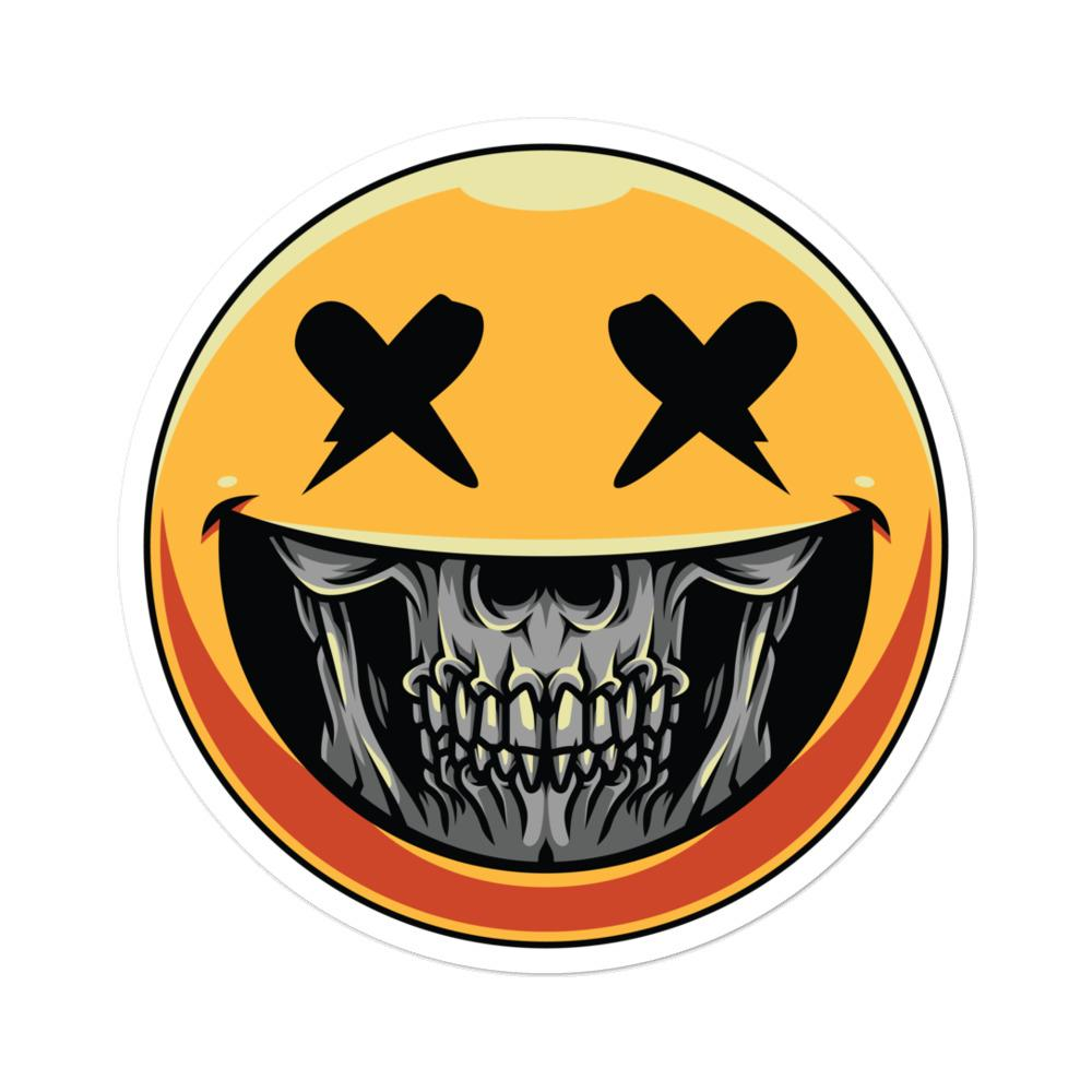 Smiley Skull Sticker | Mutinou...