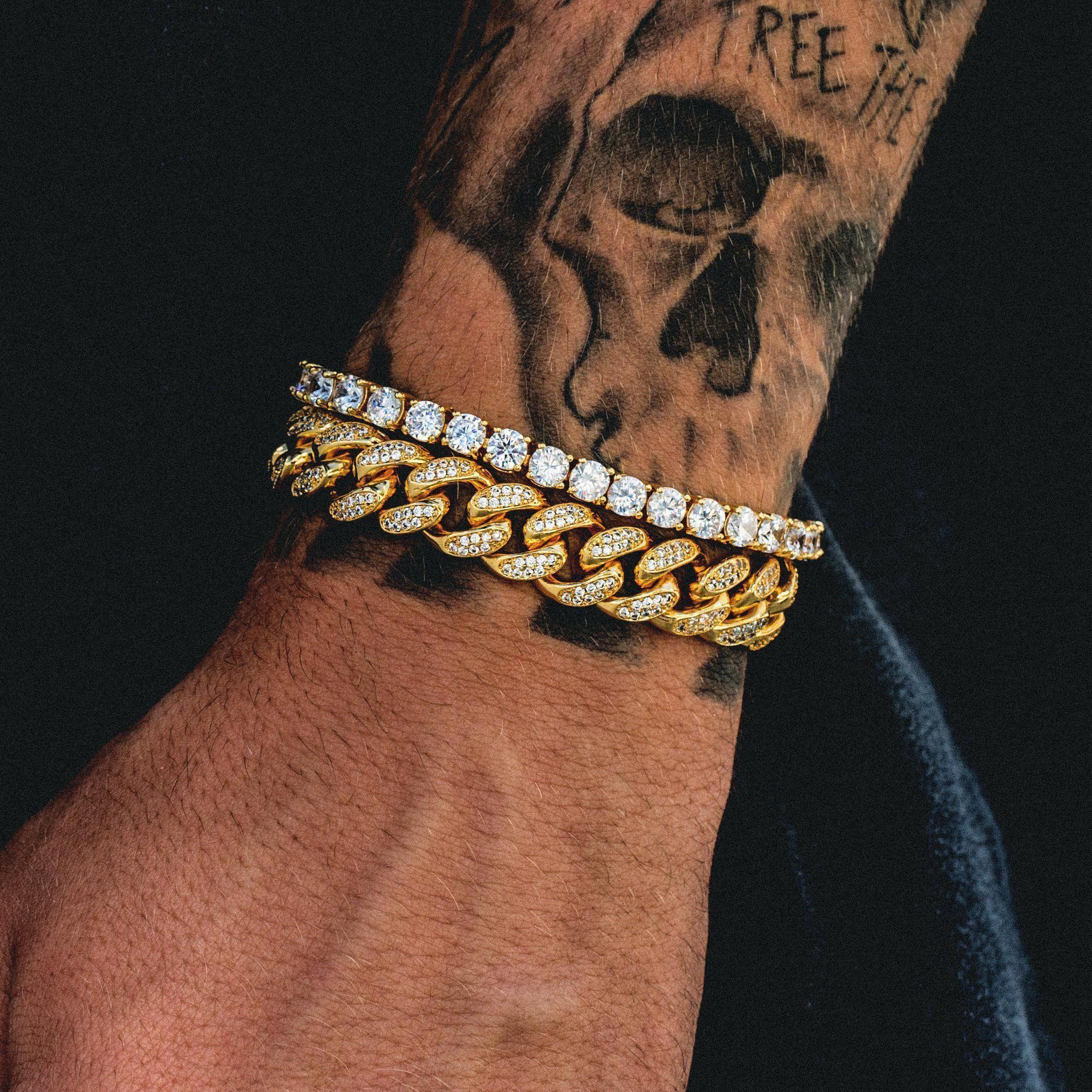 Diamond Cuban Link 10mm Tennis Bracelet Bundle Tennisbracelet Mens Diamond Bracelet Mens Jewelry Bracelet Bracelets For Men
