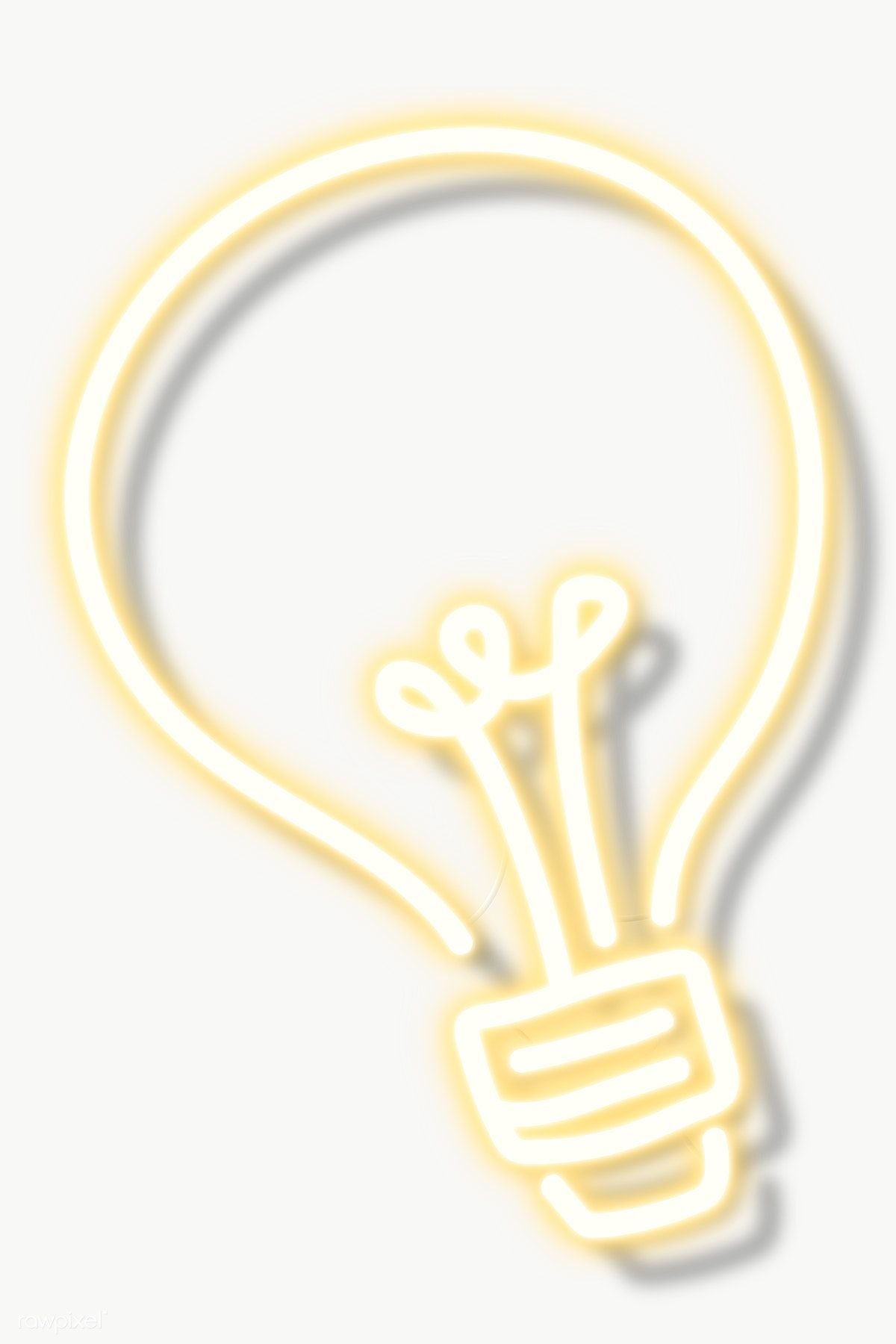 Download Premium Png Of Yellow Light Bulb Neon Sign Transparent Png 2094120 In 2020 Neon Signs Pink Neon Lights Light Bulb Icon