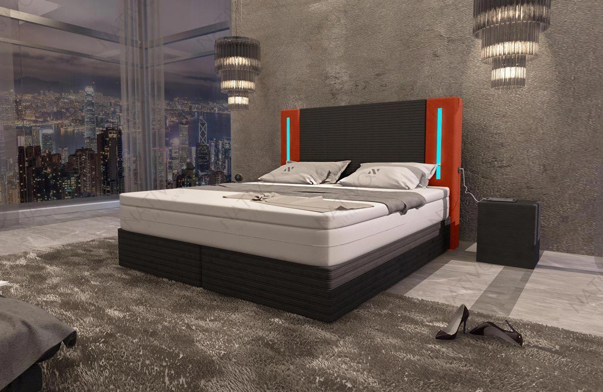 Designer Boxspringbett Roma In Leder Inkl Topper Nativo Bedroom