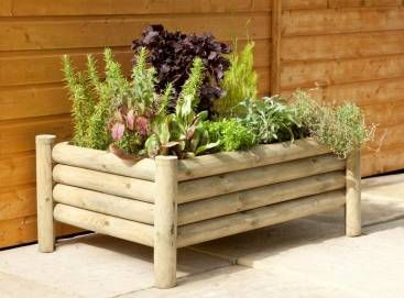 Forest Raised Log Planter Garden Ideas Pinterest Log Planter