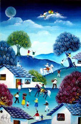 Gabriel Nieto The Colombian Landscape Oil Paintings Andes Pinturas De Arte Popular Arte Naif Pintura Al Oleo