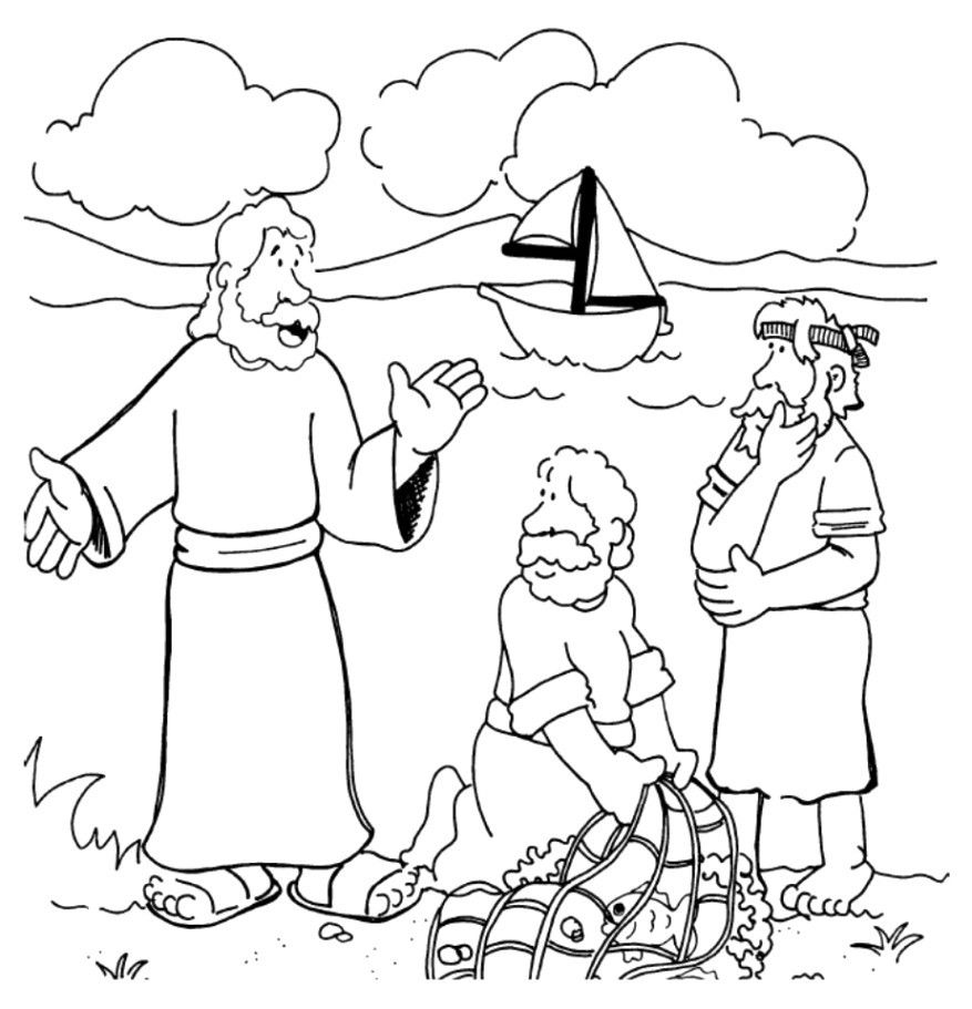 Image result for coloring pages of calling the disciples