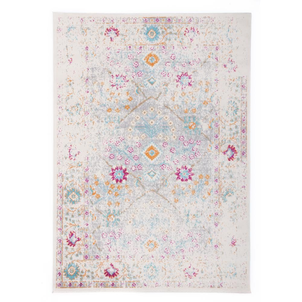 World Rug Gallery Distressed Oriental Border 7 Ft 10 In X 10 Ft Cream Area Rug Ivory Rugs Border Rugs Area Rugs