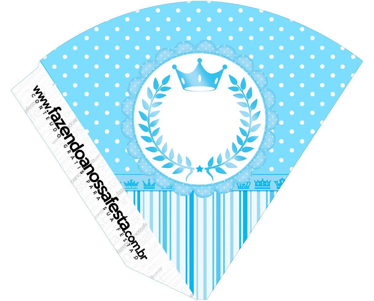 Cone Guloseimas Realeza Azul