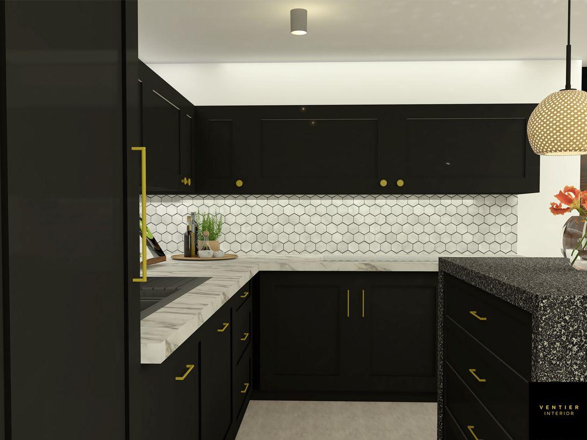 Black And White Kitchen Design Di 2021