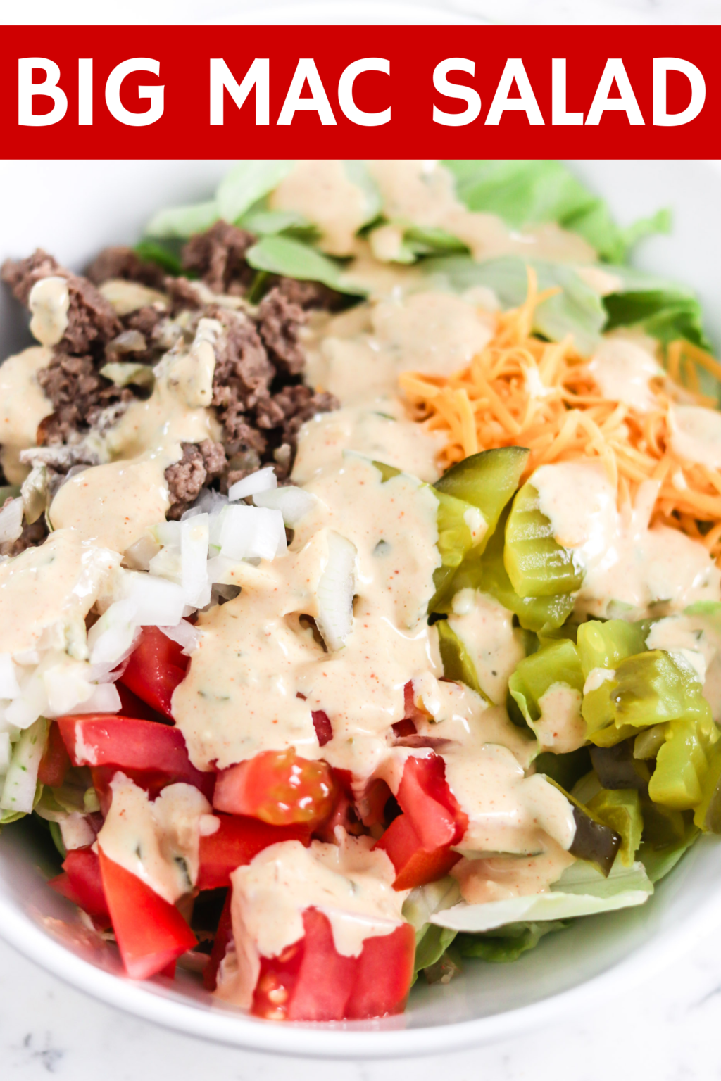 Big Mac Salad (Low Carb)