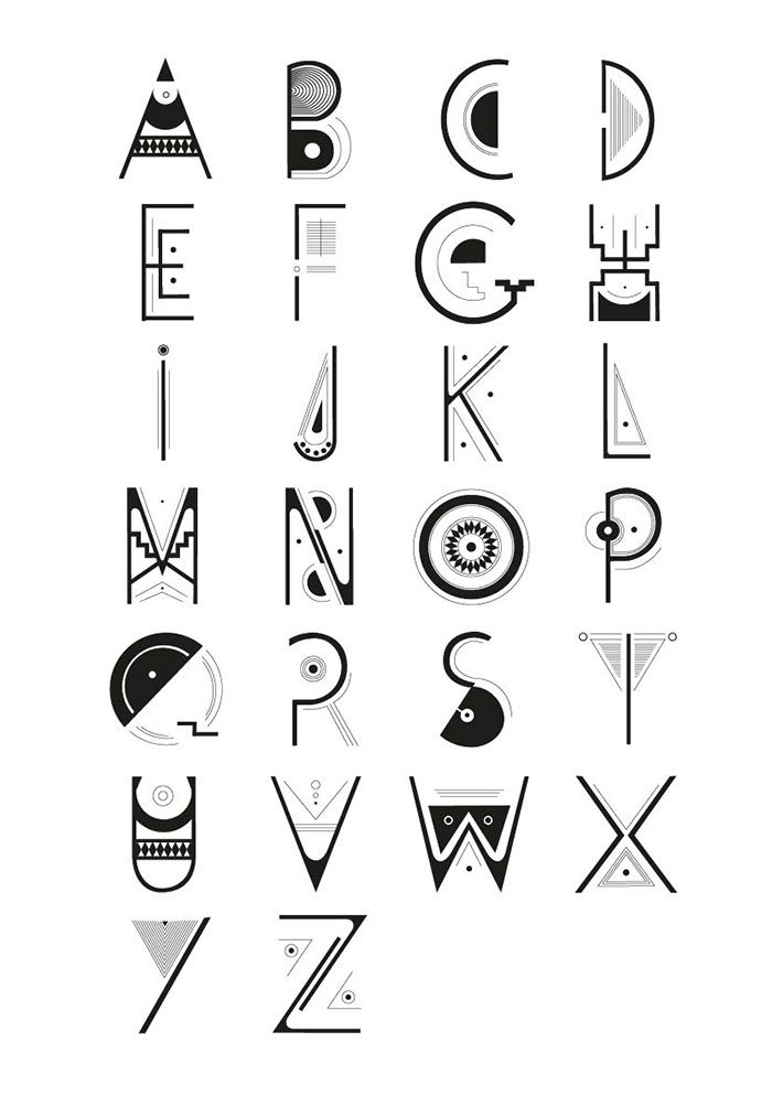 Caracter Precolombian | Writing fonts, Typography fonts