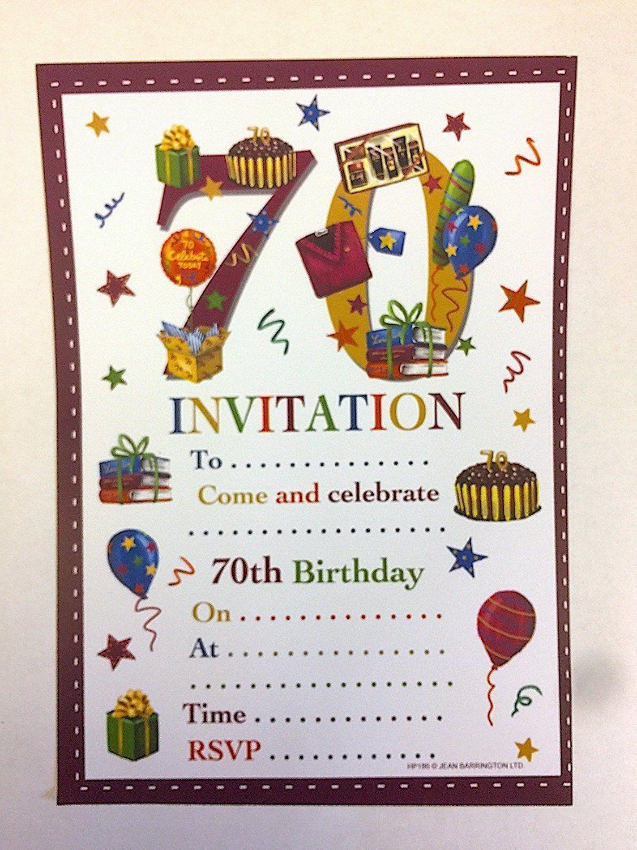 Einladungskarten Einladung Zum 70 Geburtstag Einladung