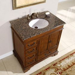 Silkroad Exclusive Riverbank Bathroom Single Sink Vanity