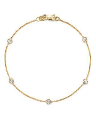 f5f9347f26896 BLOOMINGDALE'S DIAMOND STATION BRACELET IN 14K YELLOW GOLD, .25 CT ...