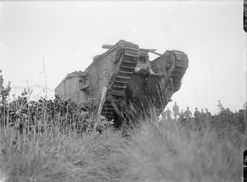 "MINISTRY INFORMATION FIRST WORLD WAR OFFICIAL COLLECTION (Q 2845)   British Tank at Elverdinghe, ""C"" Battalion, 11 September 1917"