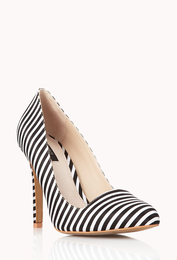 Standout Striped Pumps   FOREVER21 #ForeverHoliday