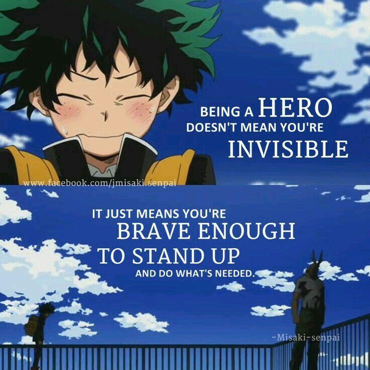 Boku no hero quotes