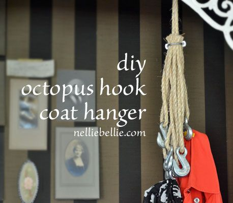 octopus coat hook from coat hanger hanger and easy