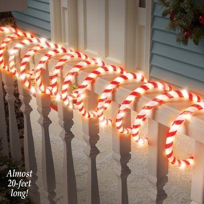 Candy Cane Rope Light Christmas Lighting With Images Decorating With Christmas Lights Rope Light Holiday Decor Christmas
