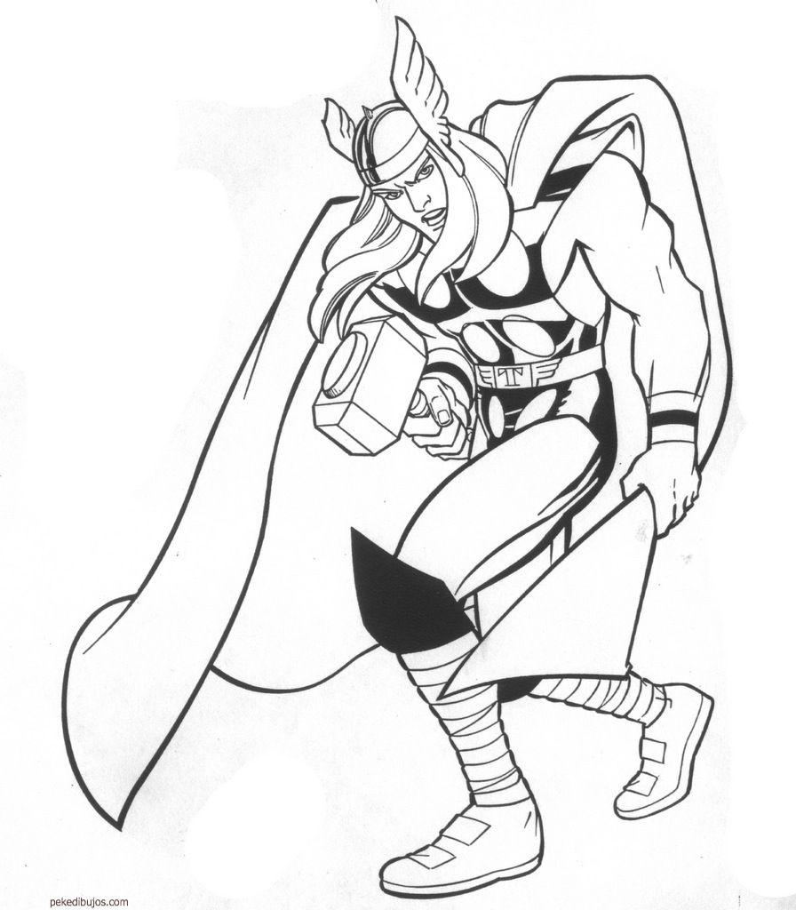 Dibujos de Thor para colorear | Dibujos | Pinterest | Thor, Colorear ...