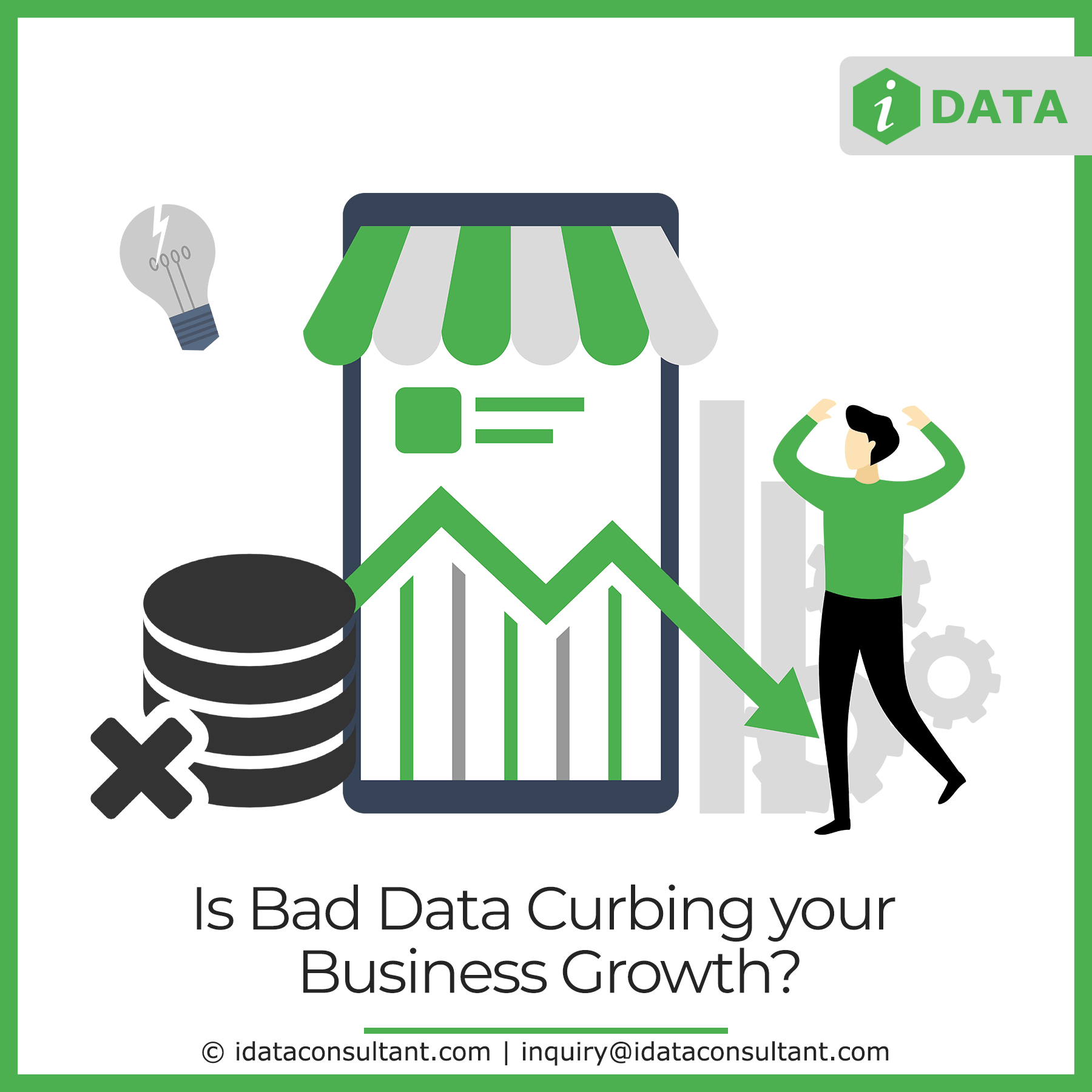 Is Bad Data Curbing Your Business Growth Business Growth Business Contact Data Cleansing