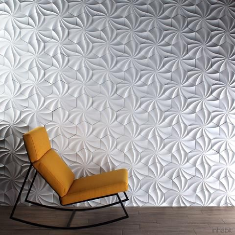 Superior Kaleidoscope Cast Architectural Concrete Tile   Primer White     Outlet  Cast Tiles   Inhabitliving.