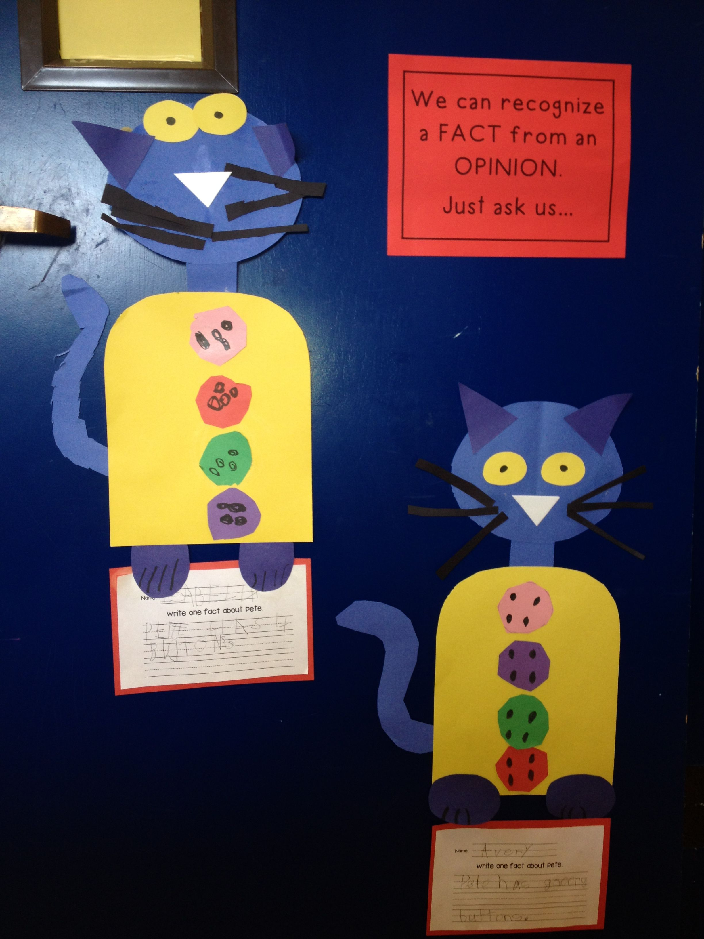 Fact And Opinion Activity About The Character Pete The Cat