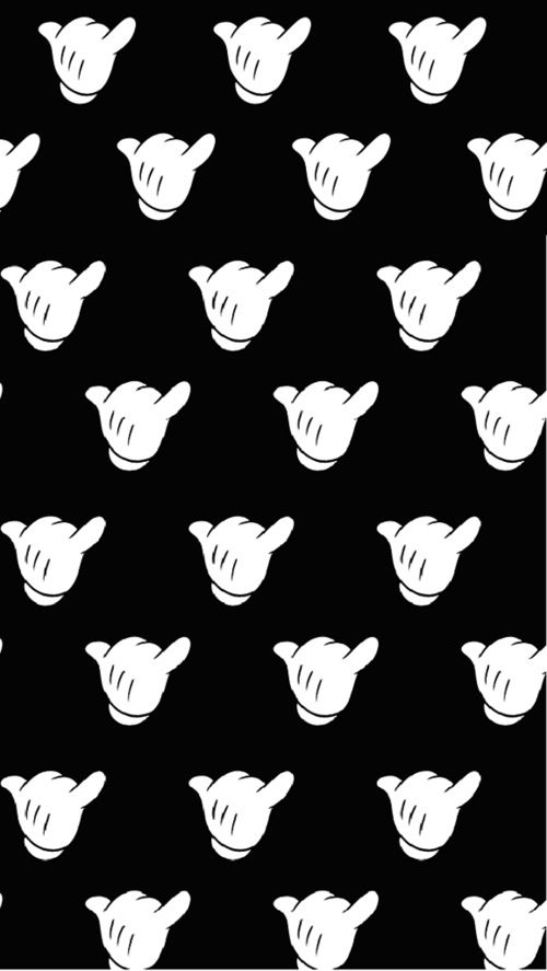 Swag Mickey Print Patterns Tumblr Hand Wallpaper Cute Hipster