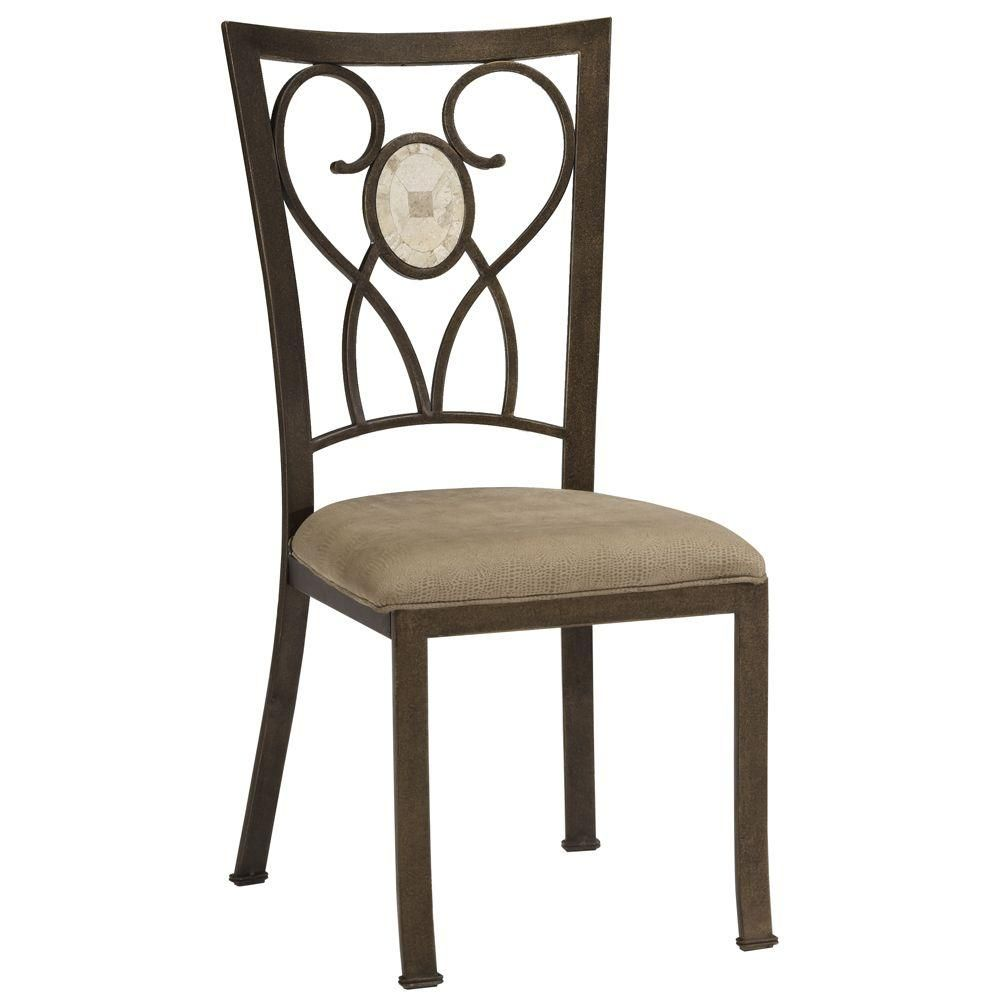 Folding dining table and chair set  Brookside Oval Inset Dining Chairs Set Brown  Brown Dining