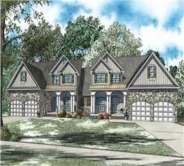 Craftsman House Plan 4 Bedrm, 2244 Sq Ft Per Unit Home
