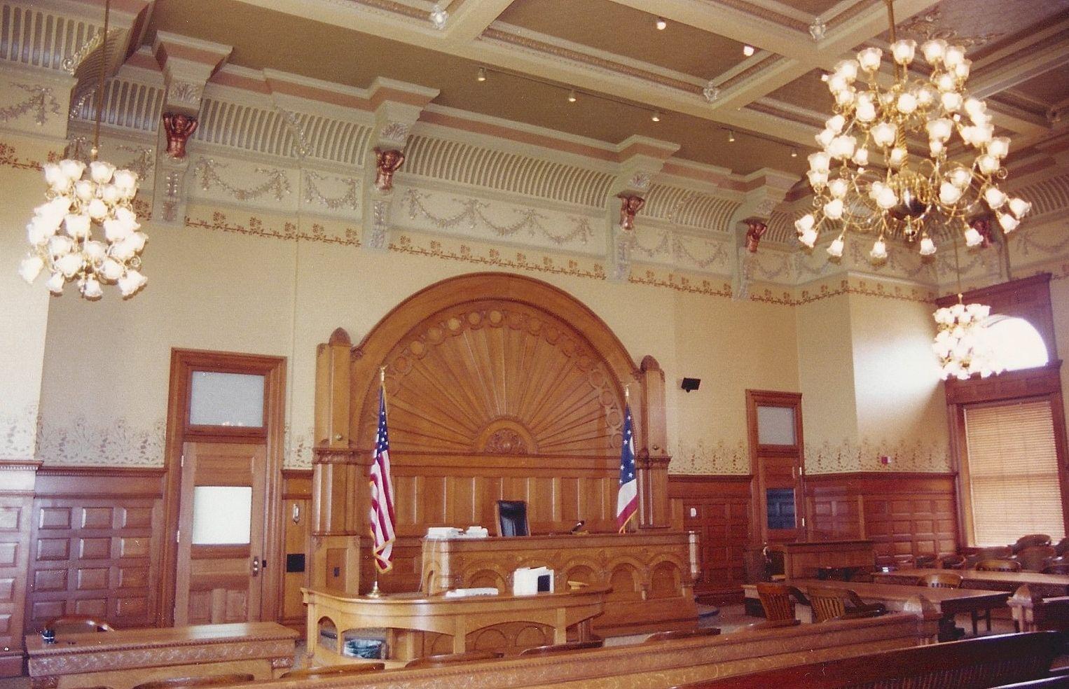 Courtroom scenic design divorce court design