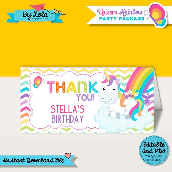 Unicorn Rainbow Birthday Invitation- Digital File- DIY Printable - birthday invitation wording no gifts donation