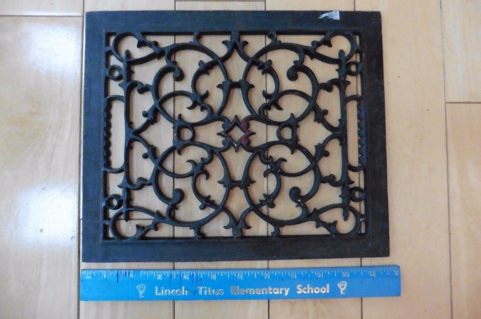Vintage Cast Iron Vent Register Cover Ornate Antique Painted Floor Heat Grate A Antique Paint Painted Floor Ornate