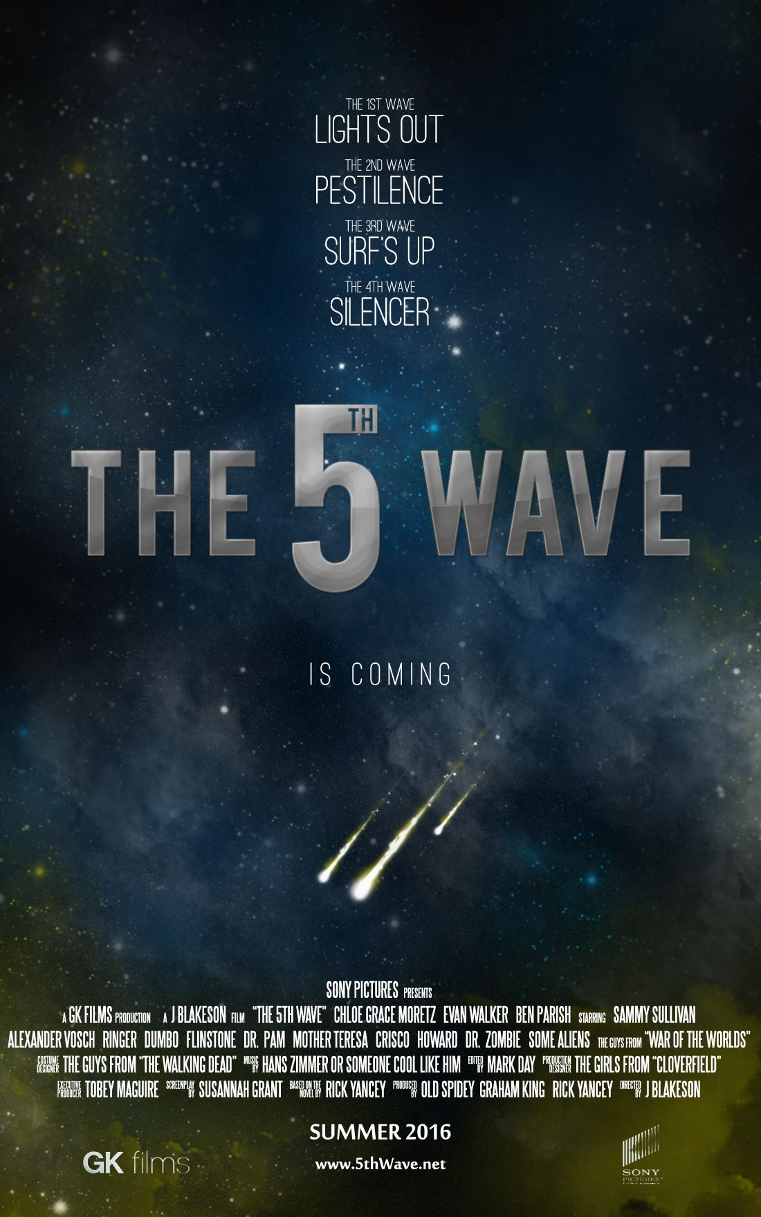 Possible poster (October 5, 2014) | The 5th Wave FILM 2016