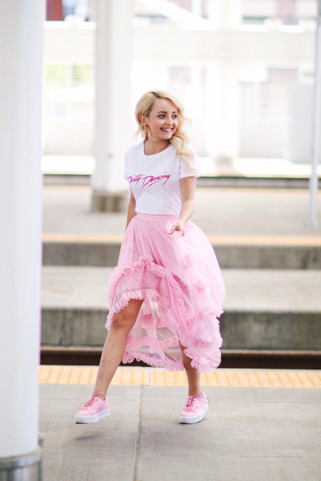 Pink Tulle Skirt | beauty | Pinterest | Moda elegante, Tenis y Elegante