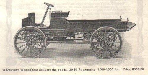 1911 McIntyre Delivery Wagon McIntyre The W. H. McIntyre Co. Auburn,  Indiana 1909-1915 This America Automobile started li… | Automobile,  Automobile industry, Wagons