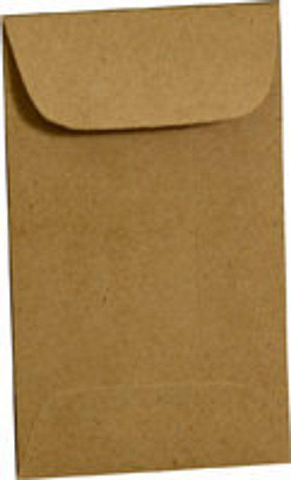 200 Brown Bag Coin Envelopes Brown Kraft Paper Mini Envelope