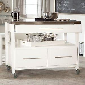 modern kitchen island storage cart dining portable wheels bar mobile white new weie kcheninselkochinselnbewegliche - Bewegliche Kcheninsel Diy